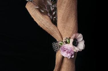 Anemone cuff corsage 2