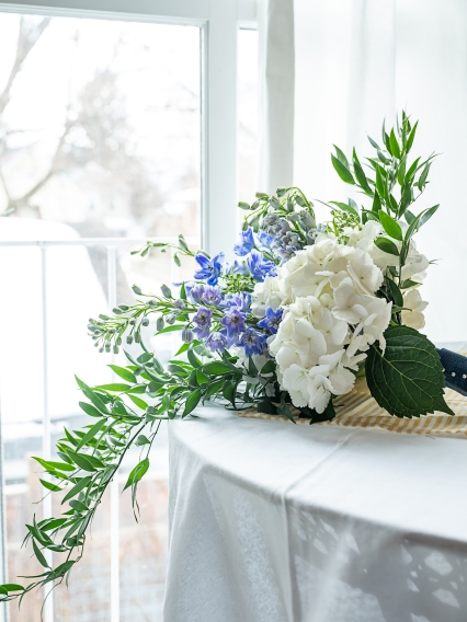 Hydrangea and Delphinium Bouquet